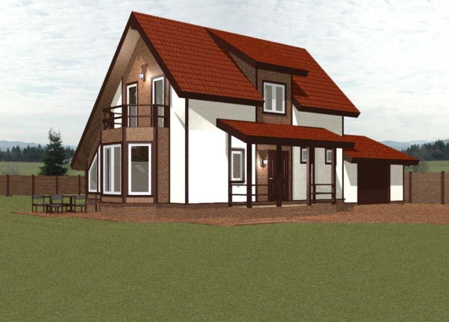 Эскизный проект каркасного дома